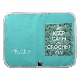 Keep Calm and Crochet On Blue Organizer