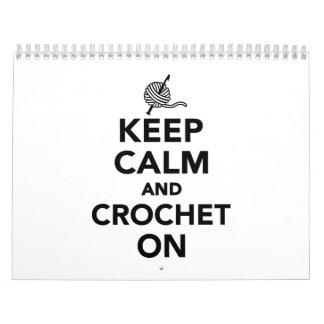 Keep calm and Crochet on Calendar