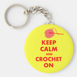 Keep Calm and Crochet On Gifts Keychain