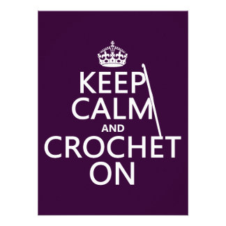 Keep Calm and Crochet On Personalized Invite