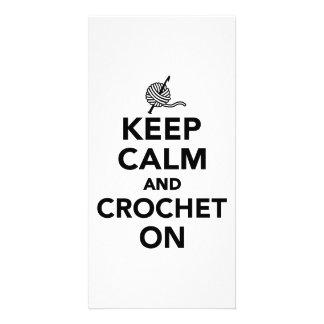 Keep calm and Crochet on Photo Card