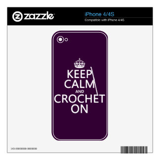 Keep Calm and Crochet On Skin For The iPhone 4S