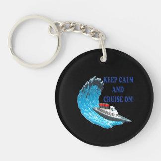 Keep Calm And Cruise On Keychain