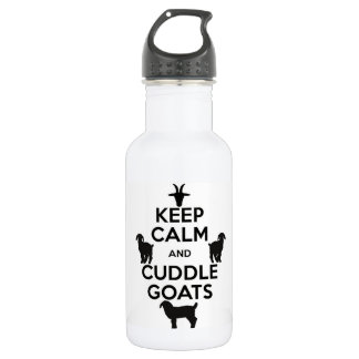 Keep Calm and Cuddle Goats Water Bottle
