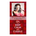 Keep Calm and Cuddle Photo Greeting Card