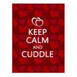 Keep Calm and Cuddle Postcard