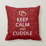 Keep Calm and Cuddle Throw Pillow