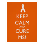 Keep calm and Cure MS - Multiple Sclerosis Poster
