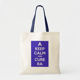 Keep Calm and Cure RA Tote Canvas Bags