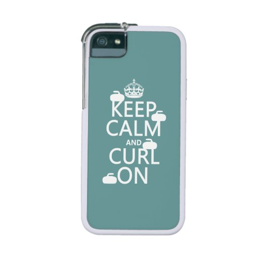 Keep Calm and Curl On (any color) Case For iPhone 5