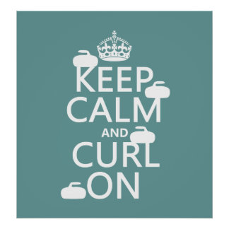 Keep Calm and Curl On (any color) Poster