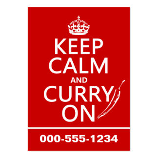 Keep Calm and Curry On (customizable) Business Card Templates