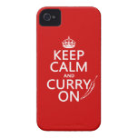 Keep Calm and Curry On (customizable) Case-Mate iPhone 4 Cases