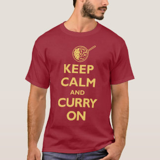 Keep Calm and Curry On (Dark) T-Shirt