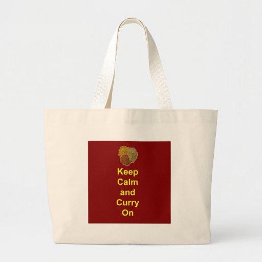 Keep Calm and Curry On Jumbo Tote Bag