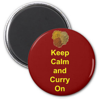Keep Calm and Curry On Magnet