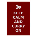 Keep Calm and Curry On Poster