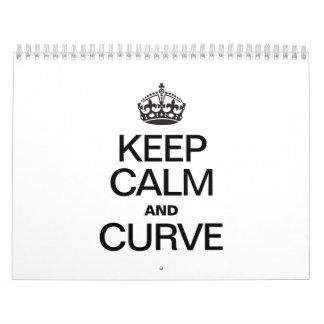 KEEP CALM AND CURVE CALENDAR