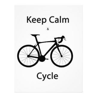 Keep calm and cycle customized letterhead