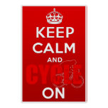 Keep Calm and Cycle on British Cycling Poster