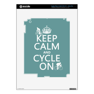 Keep Calm and Cycle On (in any color) Skin For iPad 3