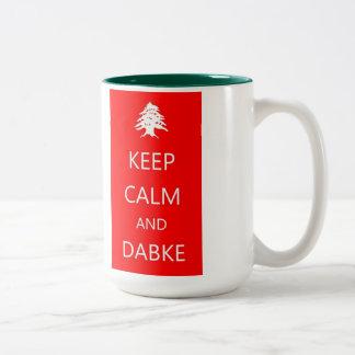 KEEP CALM and DABKE ~ Lebanon Mug