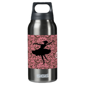 keep calm and dance ballerina insulated water bottle
