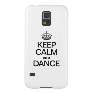 KEEP CALM AND DANCE GALAXY S5 COVERS