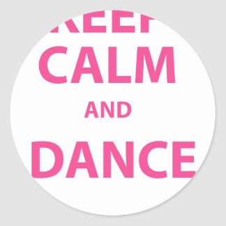 Keep Calm and Dance Classic Round Sticker