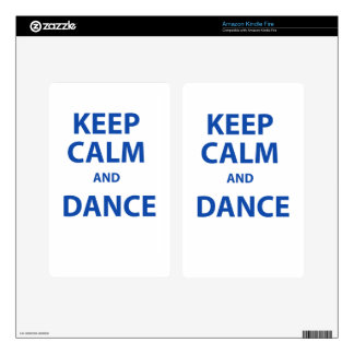 Keep Calm and Dance Decals For Kindle Fire