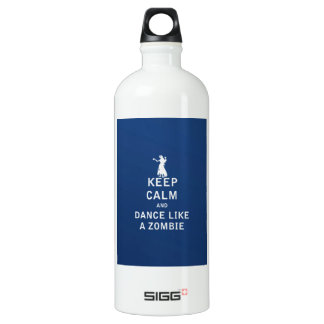 Keep Calm and Dance Like a Zombie Aluminum Water Bottle