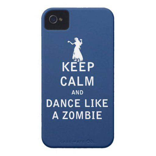 Keep Calm and Dance Like a Zombie iPhone 4 Cases