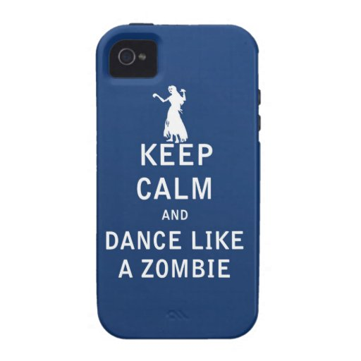 Keep Calm and Dance Like a Zombie iPhone4 Case