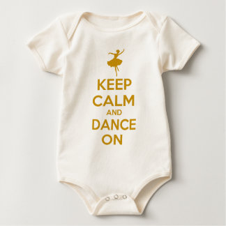Keep Calm and Dance On Baby Bodysuit