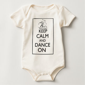 Keep Calm and Dance On Baby Bodysuit