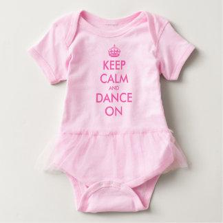 Keep calm and dance on baby tutu bodysuit for girl