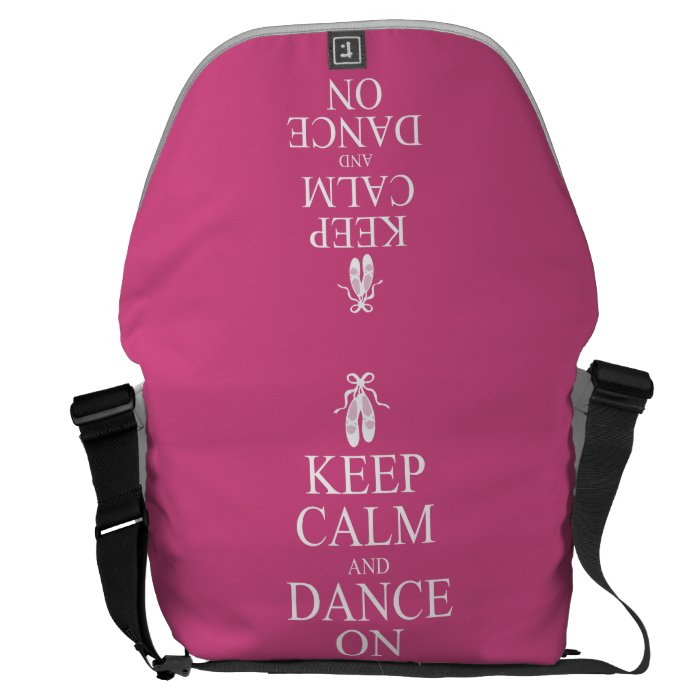 Keep Calm and Dance On Ballerina Shoes Pink Courier Bag
