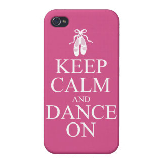 Keep Calm and Dance On Ballerina Shoes Pink iPhone 4/4S Covers