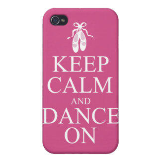 Keep Calm and Dance On Ballerina Shoes Pink iPhone 4/4S Cases