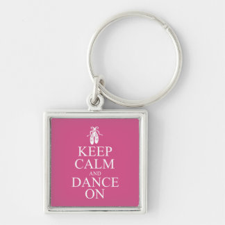 Keep Calm and Dance On Ballerina Shoes Pink Key Chain