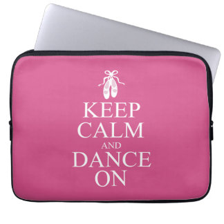Keep Calm and Dance On Ballerina Shoes Pink Laptop Sleeve