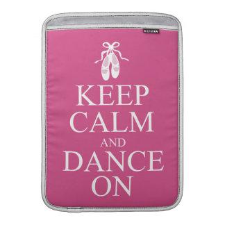 Keep Calm and Dance On Ballerina Shoes Pink MacBook Sleeve