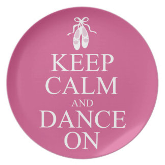 Keep Calm and Dance On Ballerina Shoes Pink Plates
