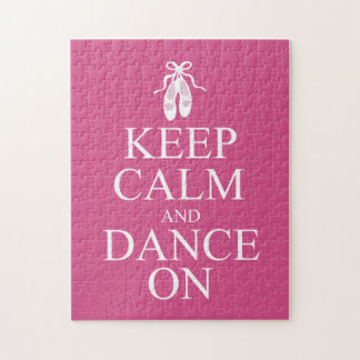 Keep Calm and Dance On Ballerina Shoes Pink Puzzles