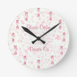 Keep Calm and Dance On Ballet Clock