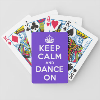 Keep Calm and Dance On Bicycle Playing Cards