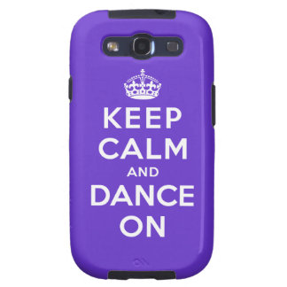 Keep Calm and Dance On Samsung Galaxy SIII Cases