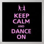 Keep calm and Dance on dancing music couple cool Print