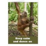 Keep Calm and Dance On Greeting Card