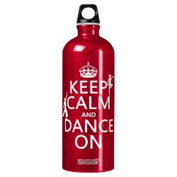 SIGG Traveller Water Bottle (0.6L) with Keep Calm and Dance On design
